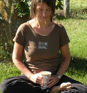 My daughter snapped my photo as I meditated with my cup of coffee two summers ago. The cool thing about meditation is that you can do it anywhere. No one even has to know what you are doing.