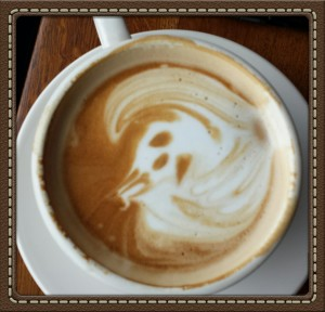 Joy in a cup doesn't need to be a heart or pretty flower to warm you from the inside out. I appreciate how the barista yesterday chose to make something I had never seen before. Who doesn't feel joyful with a skeleton face in their cup?